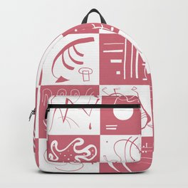 Kandinsky - White and Rose Pattern - Abstract Art Backpack