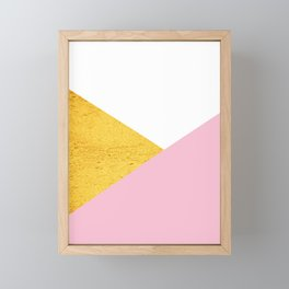 Gold & Pink Geometry Framed Mini Art Print