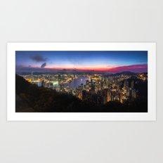 Hong Kong Sunrise Art Print