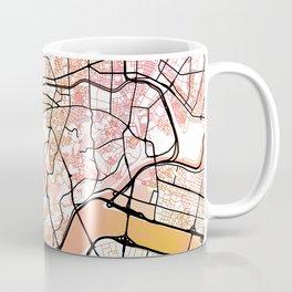 Seoul South Korea Street Map Color Coffee Mug