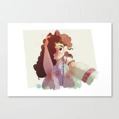 Hippy girl Canvas Print