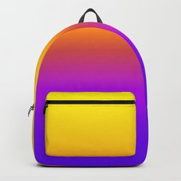 Yellow and Purple Saturated Gradient 005 Backpack