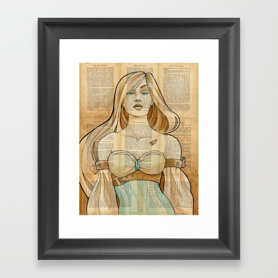 The Iron Woman 8 Framed Art Print