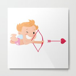 small cupid with a bow and arrow Metal Print