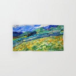 Van Gogh Mountain Meadow Landscape Painting Print Hand & Bath Towel