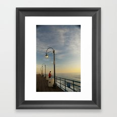 Santa Monica Pier 2 Framed Art Print