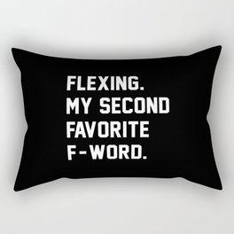 Flexing. My Second Favorite F-Word. Rectangular Pillow