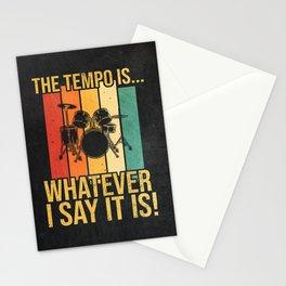 Drummer Vintage Retro Design Stationery Cards
