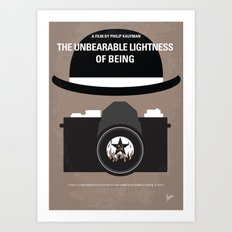 No408 My The Unbearable Lightness of Being minimal movie poster Art Print
