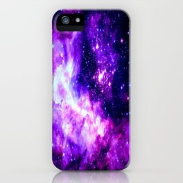 Purple Galaxy : Celestial Fireworks iPhone Case