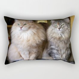 Mr. Cesare and Queen Cleopatra. Siberian cats Rectangular Pillow
