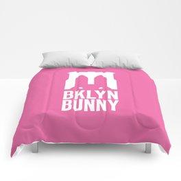 Brooklyn Bunny Logo (Pink) Comforters