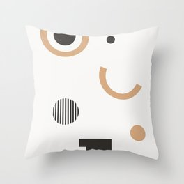 Persis - earthtone, earth tones art print, abstract art, geometric minimal art print Throw Pillow