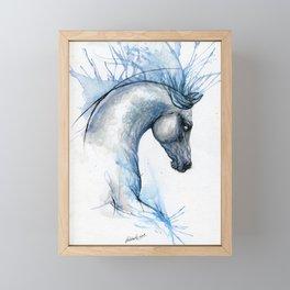 Blue horse Framed Mini Art Print