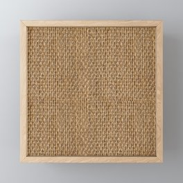 Rustic Natural Fibers  Framed Mini Art Print