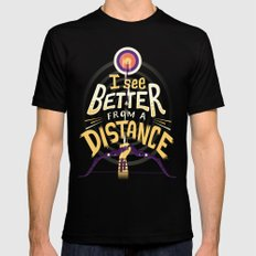 Better from a distance Black Mens Fitted Tee LARGE