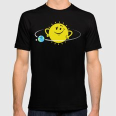 The Whole World Revolves Around Me Mens Fitted Tee Black MEDIUM