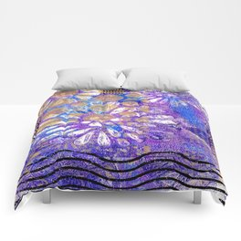 Pattern in Purples and Blues Comforters