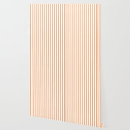 Bright Orange Russet Mattress Ticking Wide Striped Pattern - Fall Fashion 2018 Wallpaper