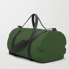 Solid Dark Forest Green Simple Solid Color All Over Print Duffle Bag