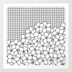 Forget Me Knot Grid Art Print