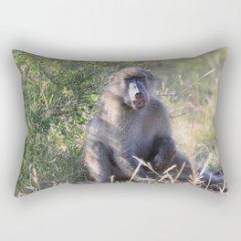 """Hey, whassup,"" said the Baboon Rectangular Pillow"