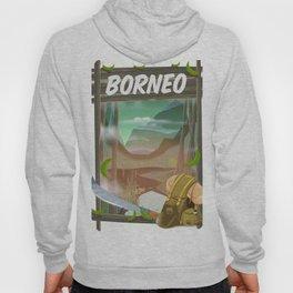 Borneo Jungle poster. Hoody