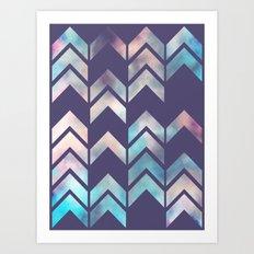 Chevron Dream 2 (Plum) Art Print