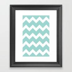 Chevron - Aqua Framed Art Print