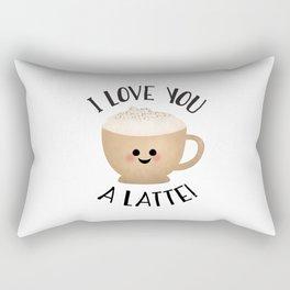 I Love You A LATTE! Rectangular Pillow