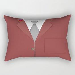 Maroon & White Haiti Rectangular Pillow