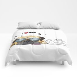 I love music-rock pug Comforters