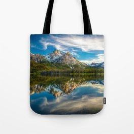 Sawtooth Range Morning Reflection Tote Bag
