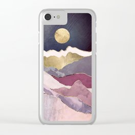 Raspberry Dream Clear iPhone Case