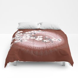 Rose Gold Cherry Blossom Comforters
