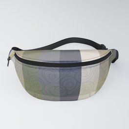 Chambray Fiord Swirly Plaid Fanny Pack