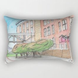 The Campus Railroad Rectangular Pillow
