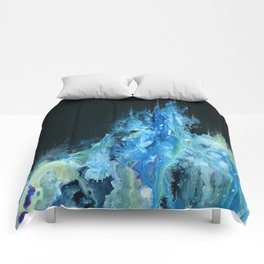 Twin Caverns (Abstract Painting) Comforters