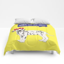 Political Pup - When We All Vote Dalmatian Comforters