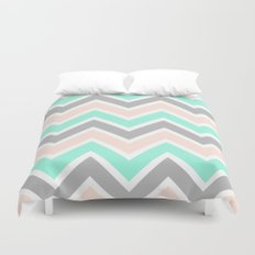 MUTED CHEVRON Duvet Cover