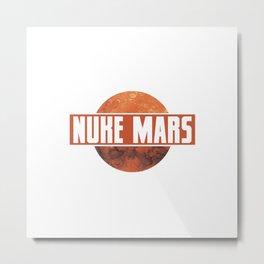 NUKE MARS - RED Metal Print