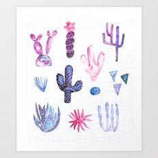 Pinata Cactus Art Print