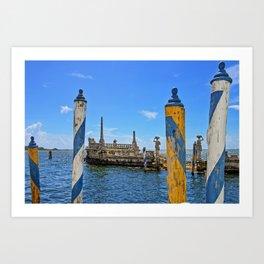 Vizcaya Barge Adventures Art Print