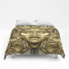 """Ancient Golden and Silver Medusa Myth"" Comforters"