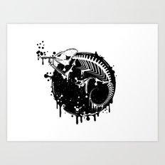 Smoking Chameleon Art Print