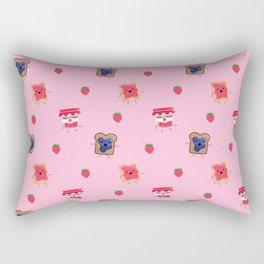 Breakfast Is Jammin' pattern Rectangular Pillow