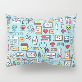 Proud To Be a Nurse Pattern / Blue Pillow Sham