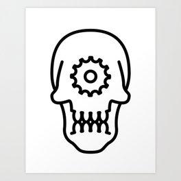 Cog Skull Art Print