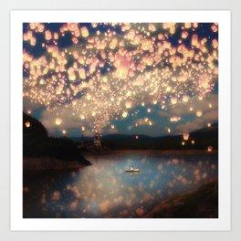 Love Wish Lanterns Kunstdrucke