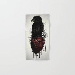 Raven and Heart Grenade Hand & Bath Towel